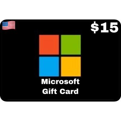 Microsoft Gift Card $15 Digital Code