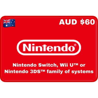 Nintendo eShop Australia $60