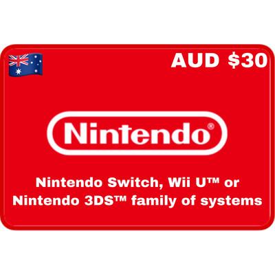 Nintendo eShop Australia $30