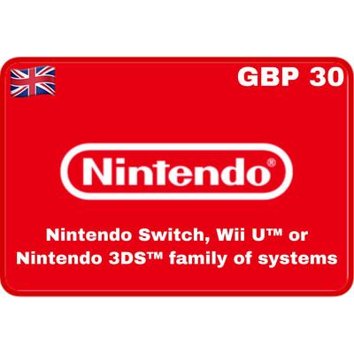 Nintendo eShop UK £30