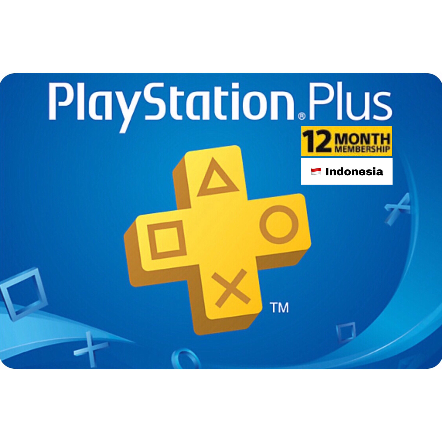 Playstation Plus (PSN Plus) Indonesia 12 Months