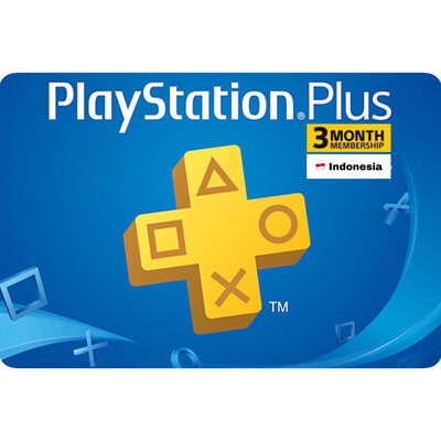 Playstation Plus (PSN Plus) Indonesia 3 Months