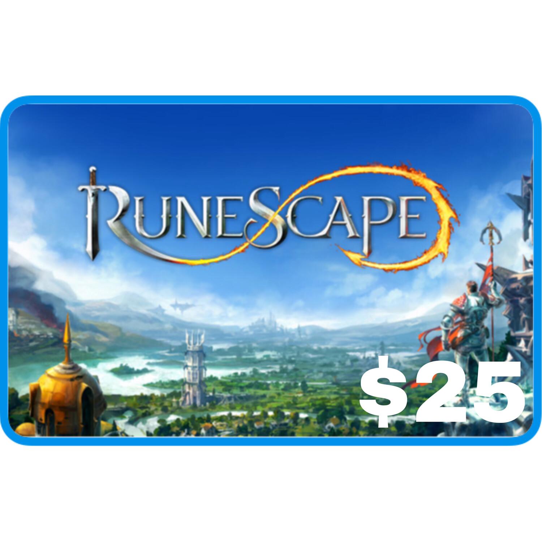 Runescape $25 Gift Card