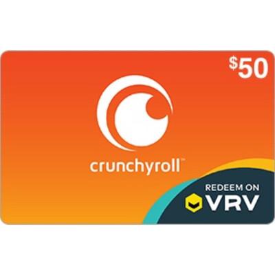 VRV $50 Crunchyroll Gift Card