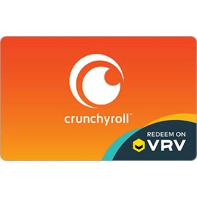 VRV $10 $25 $50 $100 Crunchyroll Gift Card