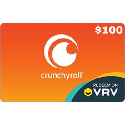 VRV $100 Crunchyroll Gift Card