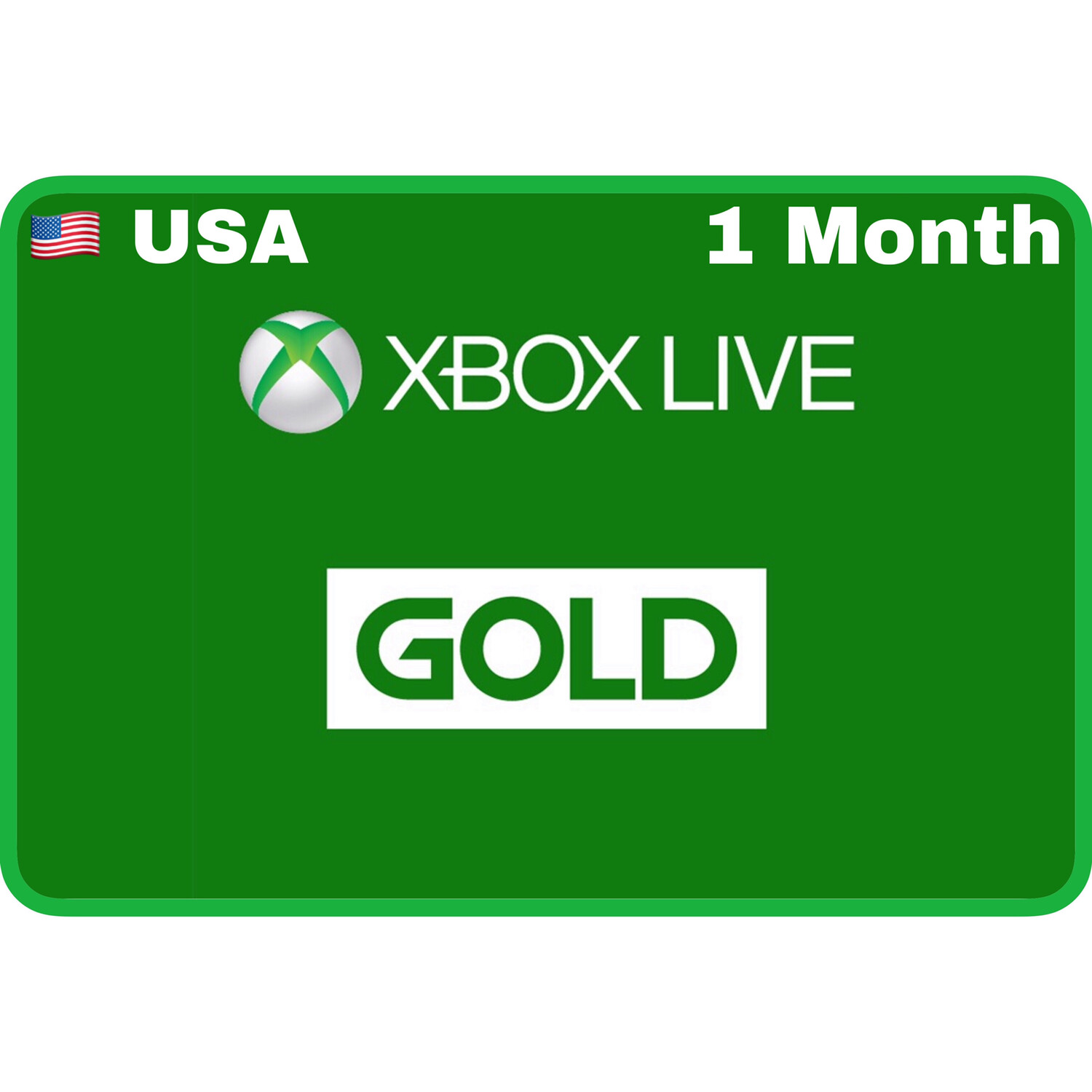 Xbox Live 1 Month Gold USA