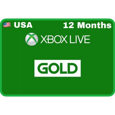 Xbox Live 12 Months Gold USA
