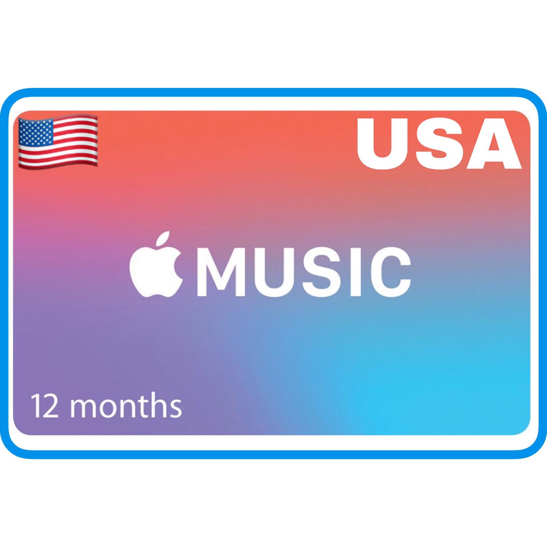 Apple Music 12 months Membership US Gift Card