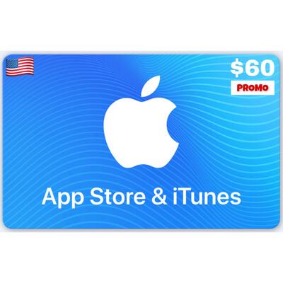 PROMO Apple iTunes Gift Card US $60