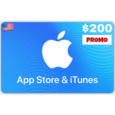 PROMO Apple iTunes Gift Card US $200
