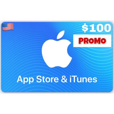 PROMO Apple iTunes Gift Card US $100