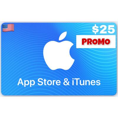 PROMO Apple iTunes Gift Card US $25