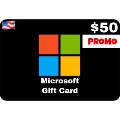 Promo Microsoft Gift Card $50 Digital Code