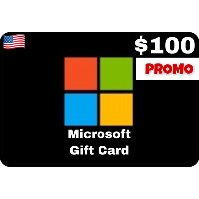 Promo Microsoft Gift Card $100 Digital Code