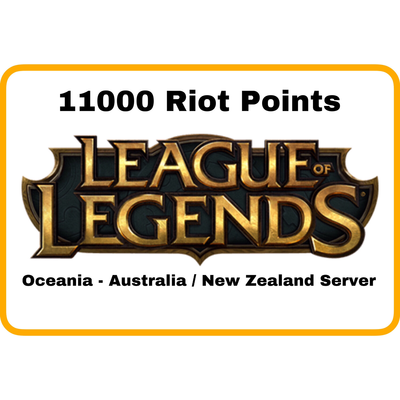 League of Legends Oceania Server (Australia/New Zealand) 11000 Riot Points