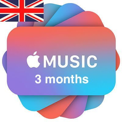 Apple Music 3 months Subscription/Membership UK