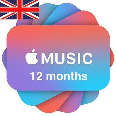 Apple Music 12 months Subscription/Membership UK