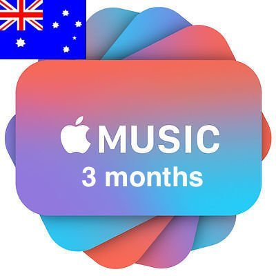 Apple Music 3 months Subscription/Membership Australia
