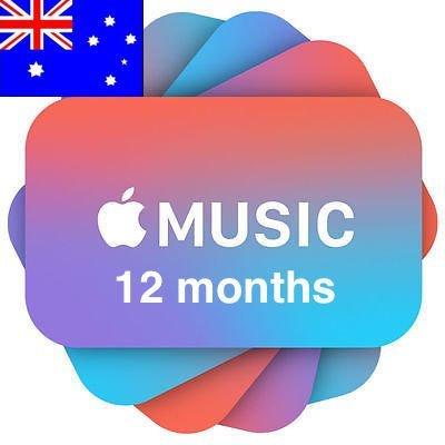 Apple Music 12 months Subscription/Membership Australia