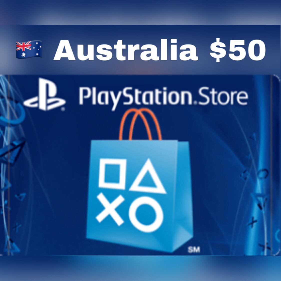 Playstation Network Card Australia $50