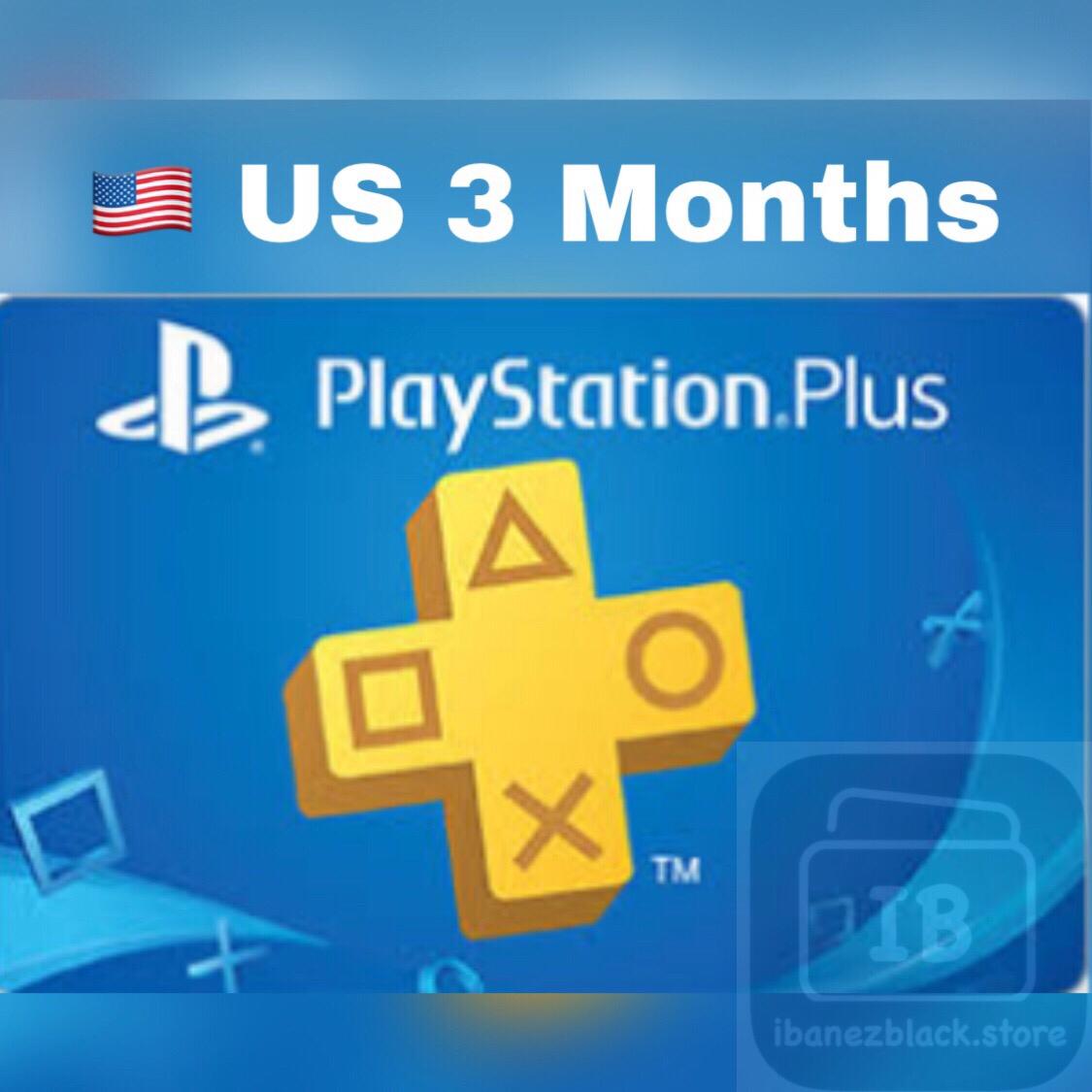 Playstation Plus / PSN Plus US 3 Months Membership
