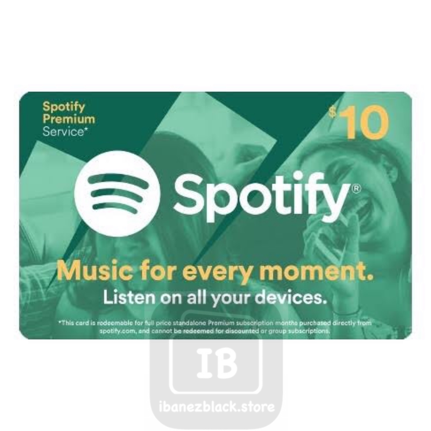 Spotify Gift Card US $10 (1 month)