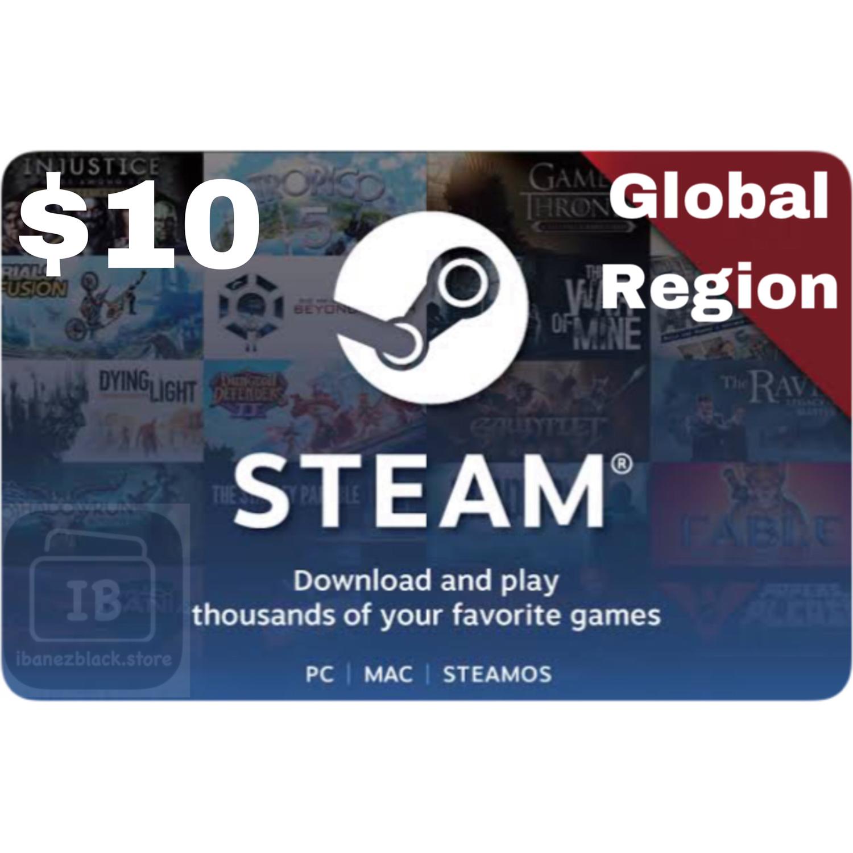 Steam Wallet Code $10 (Global)
