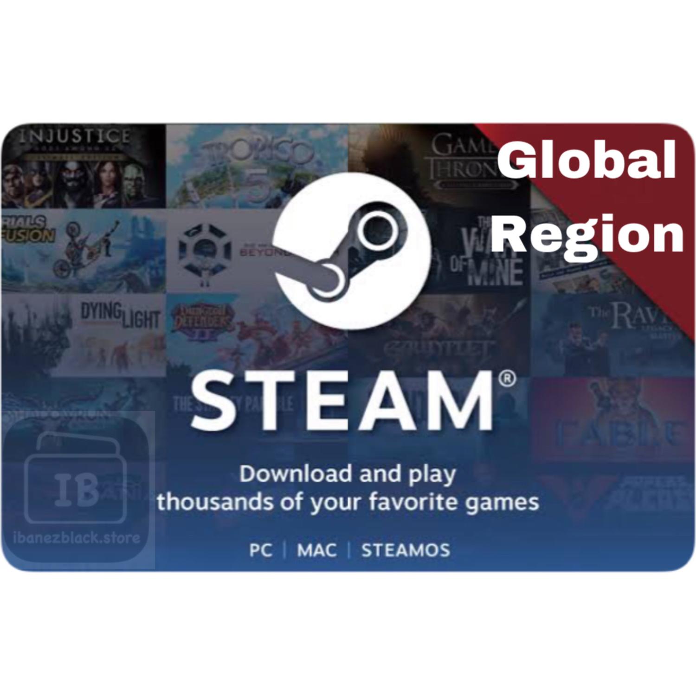 Steam Wallet Code $5 $10 $20 $50 $100 (Global)