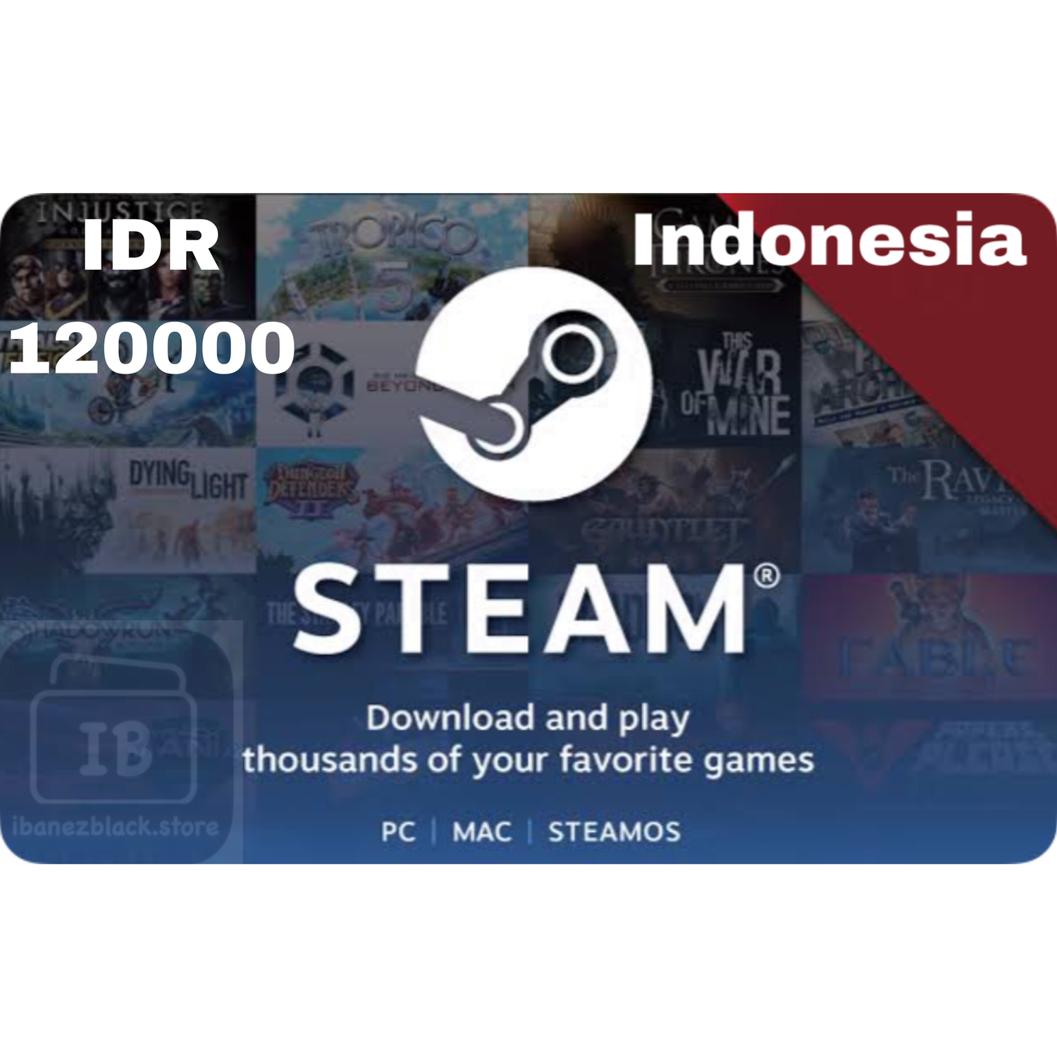 Steam Wallet Code indonesia 120ribu