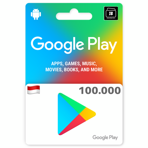 Google Play Gift Card indonesia 100.000