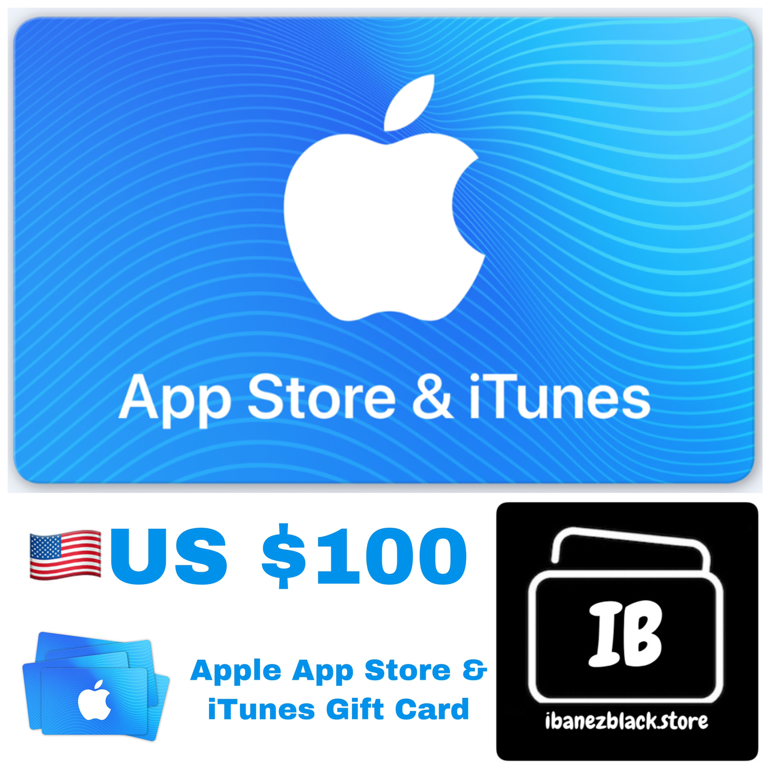 Apple App Store & iTunes Gift Cards US $100