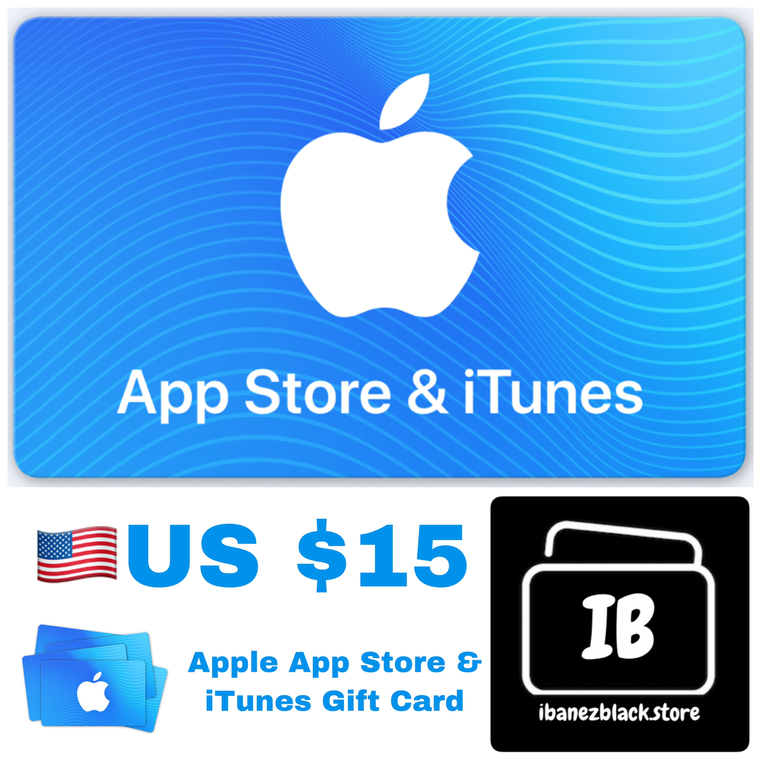 Apple App Store & iTunes Gift Cards US $15