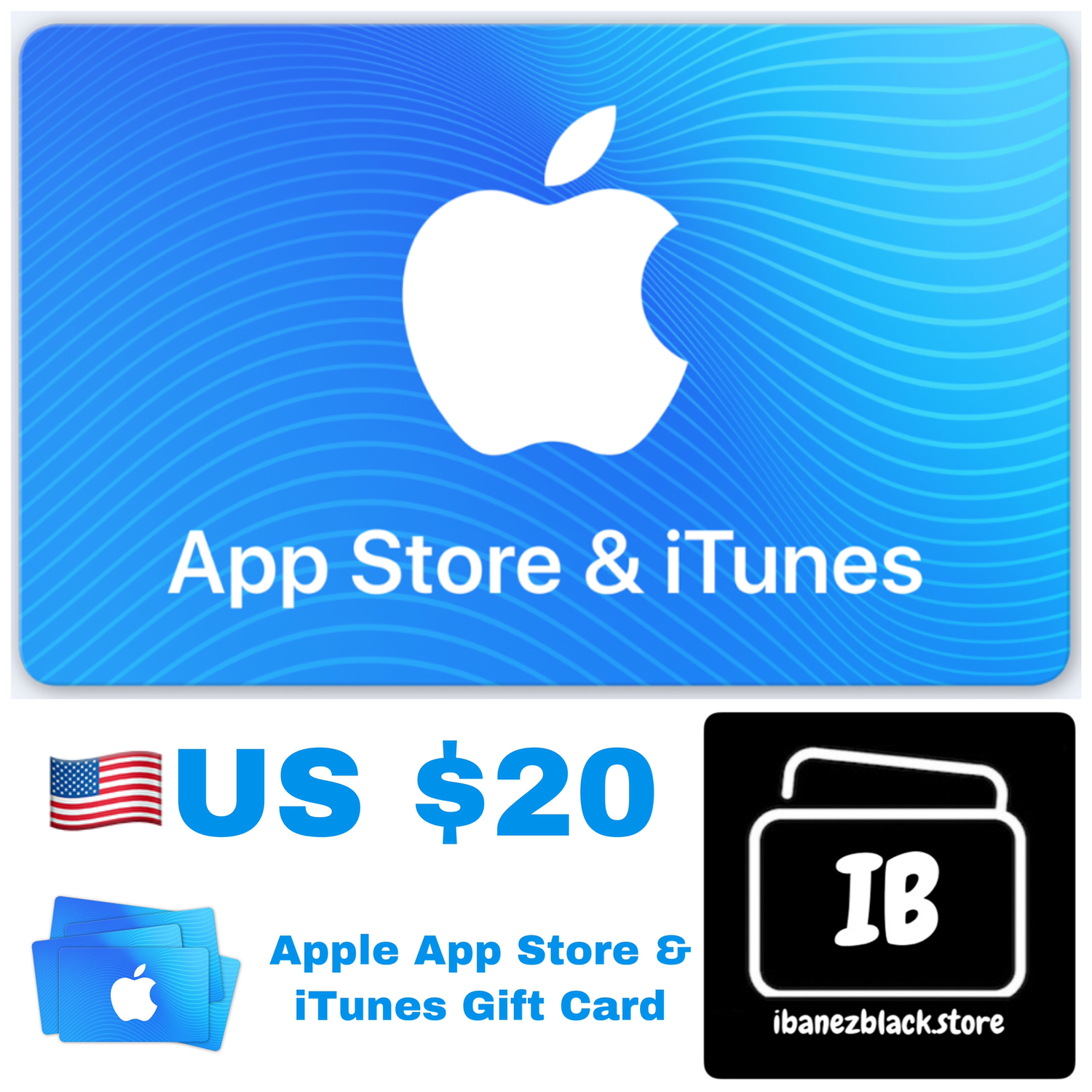 Apple App Store & iTunes Gift Cards US $20