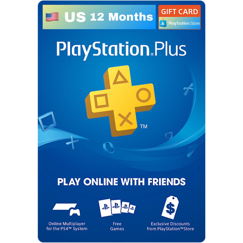 Playstation Plus / PSN Plus US 12 Months Membership