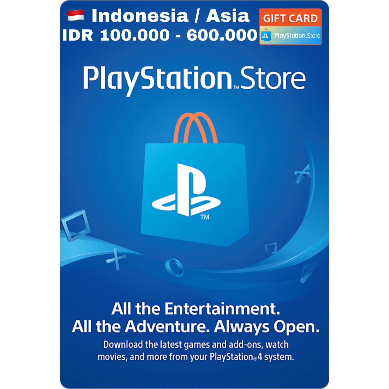 Playstation Network Card (PSN) Card Indonesia/Asia IDR 100.000 - 600.000