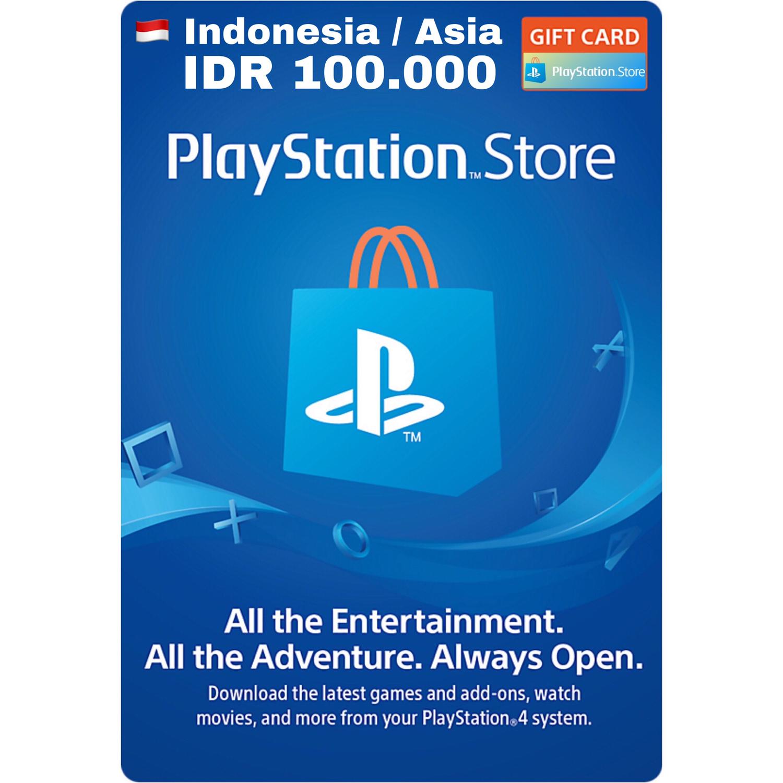 Playstation Network Card (PSN) Card Indonesia / Asia IDR 100.000