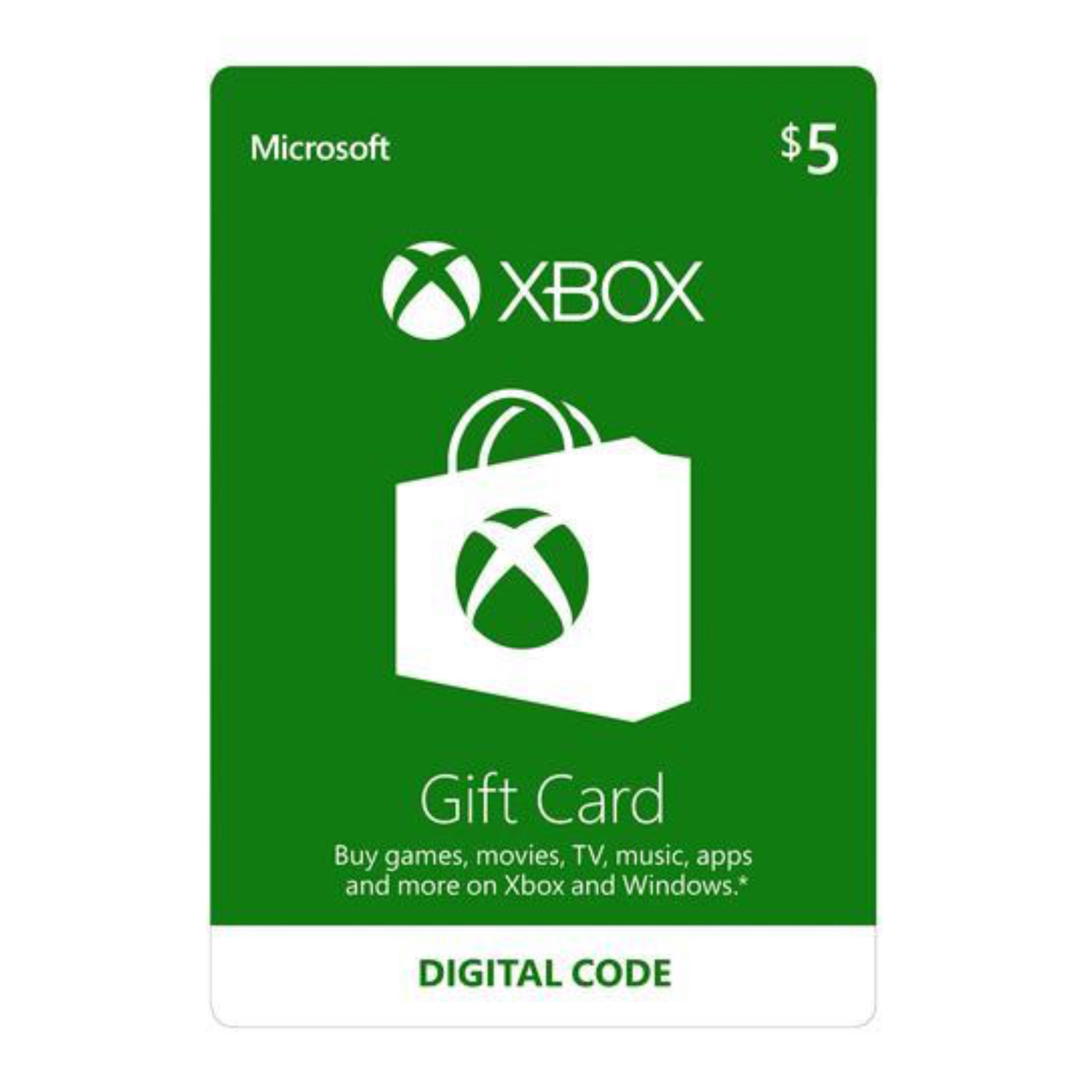 Xbox Gift Card US $5