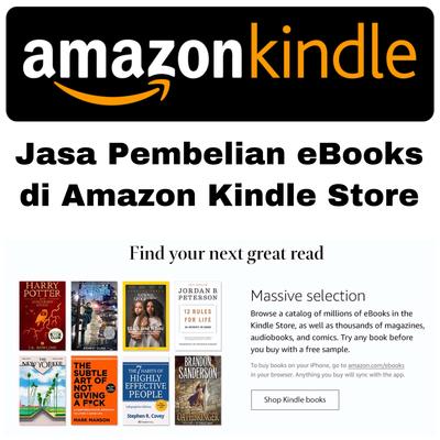 Jasa Gift Pembelian eBooks di Amazon Kindle Store