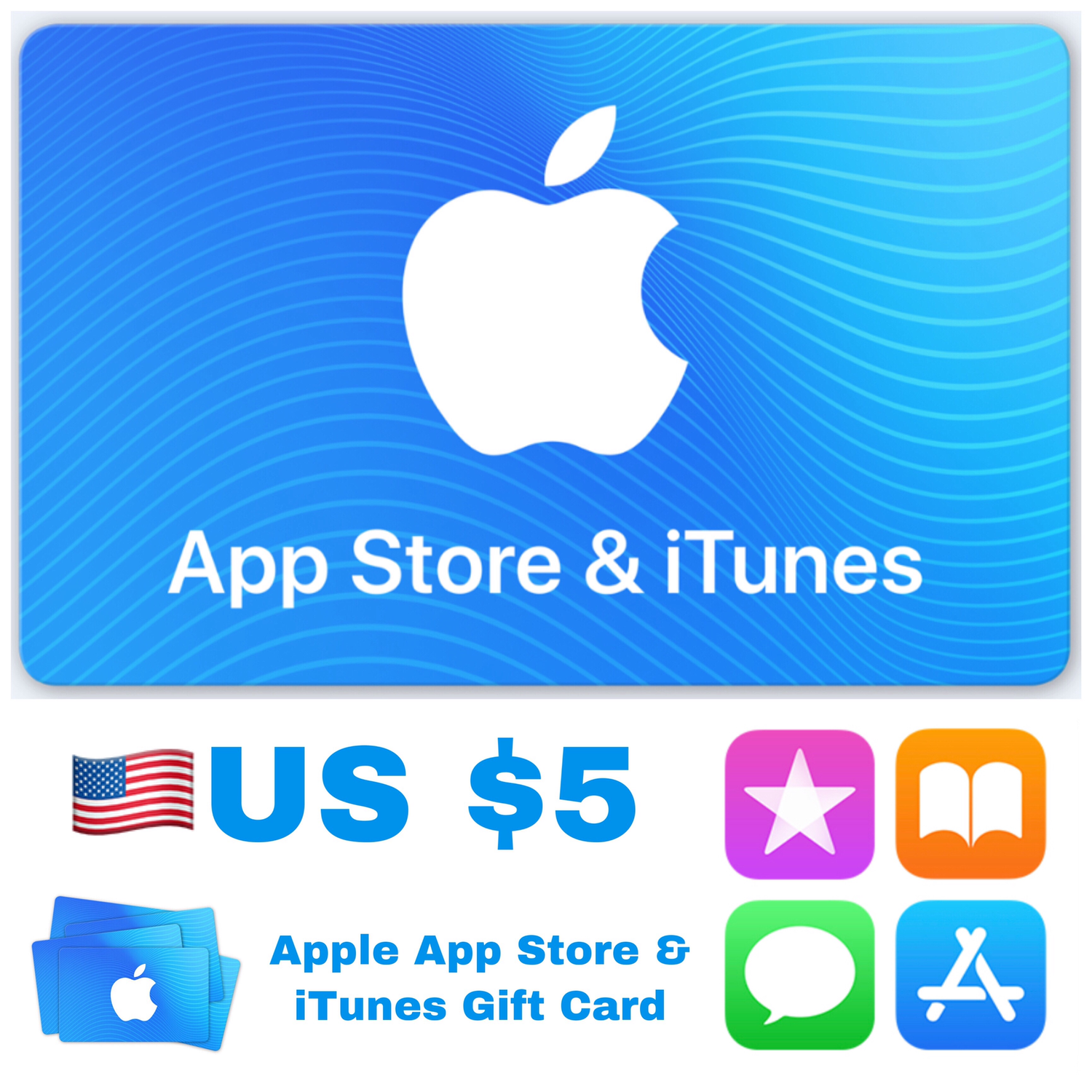 Apple App Store & iTunes Gift Cards US $5