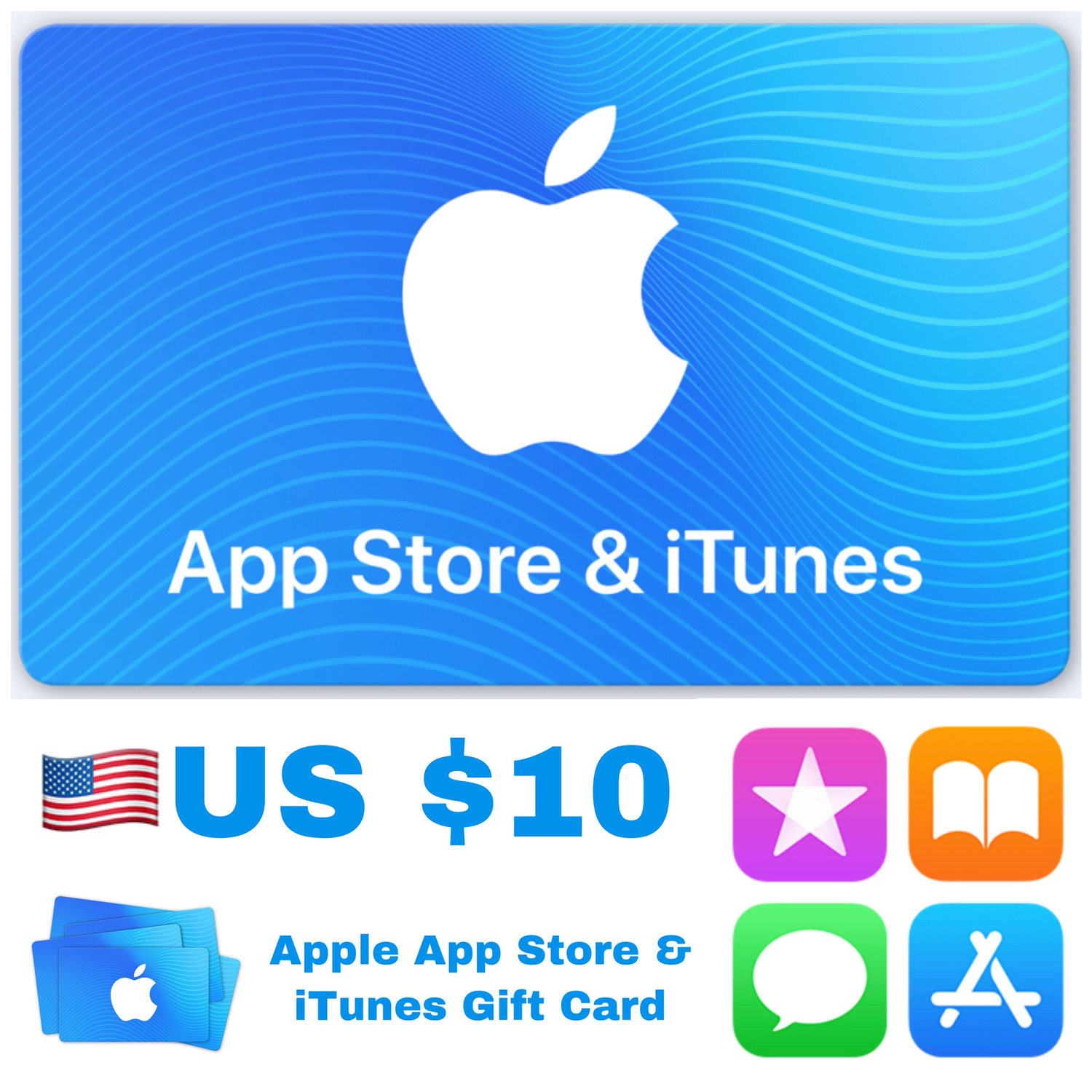 Apple App Store & iTunes Gift Cards US $10