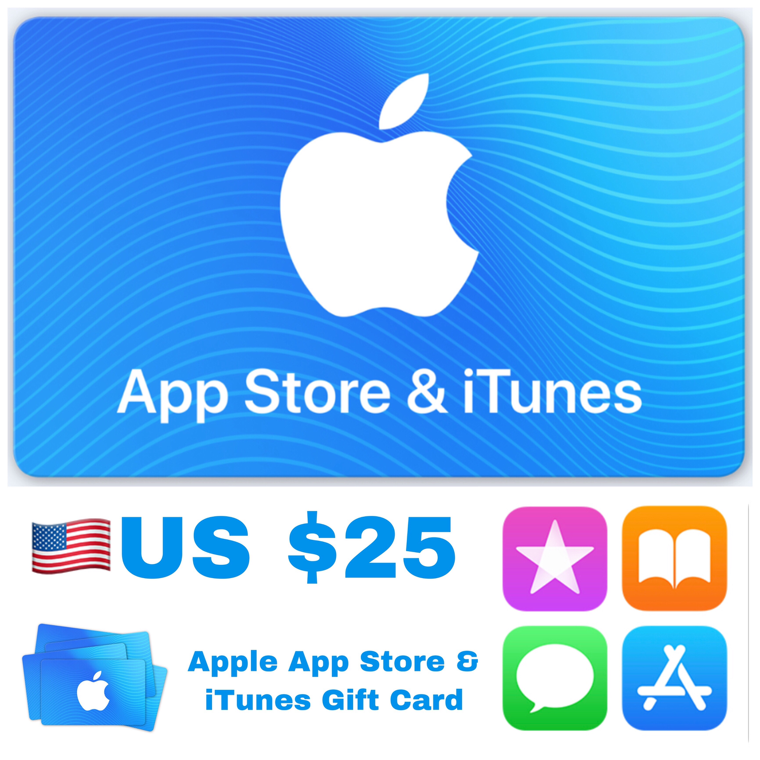Apple App Store & iTunes Gift Cards US $25