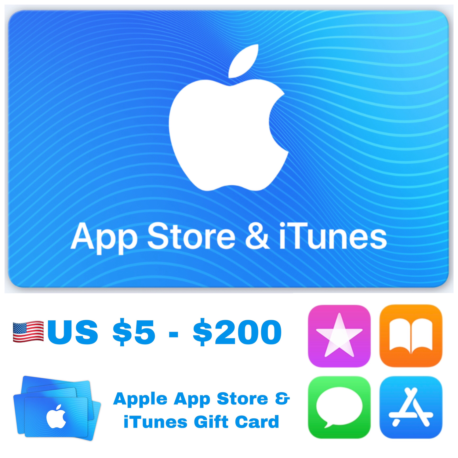 Apple App Store & iTunes Gift Cards US $5 - $200