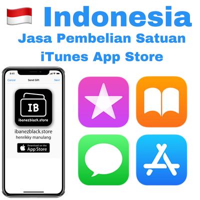 Jasa Satuan Gift Apple iTunes App Store Indonesia