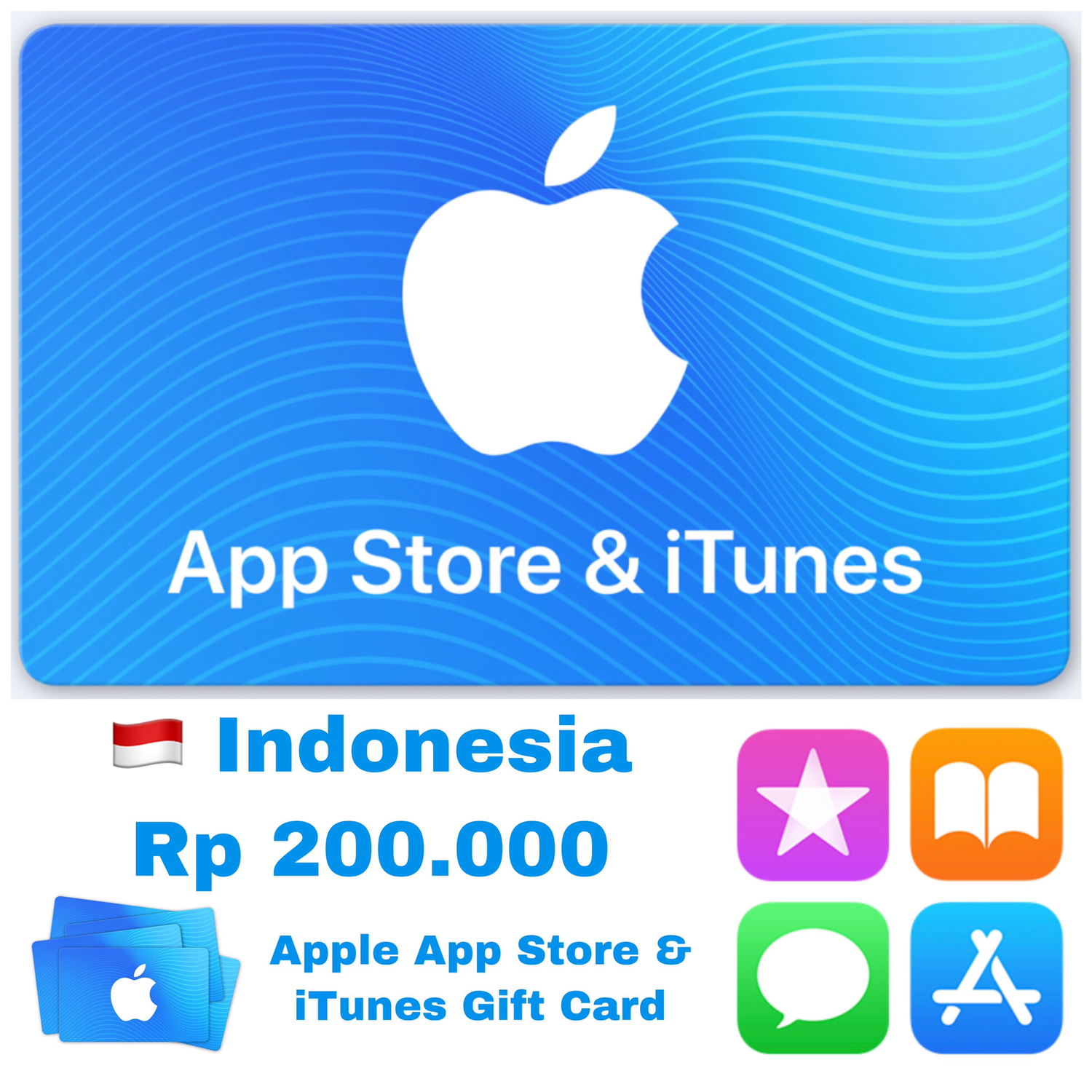 Apple App Store & iTunes Gift Card Indonesia 200.000