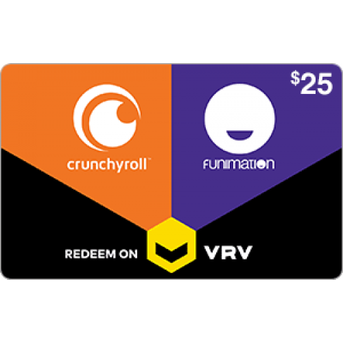 Crunchyroll US Gift Card on VRV $25 [Digital Code]