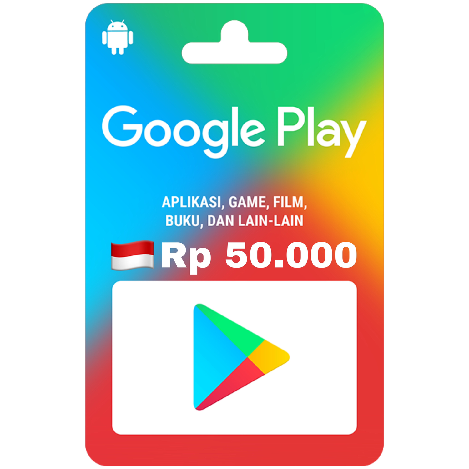 Google Play Gift Card indonesia 50.000