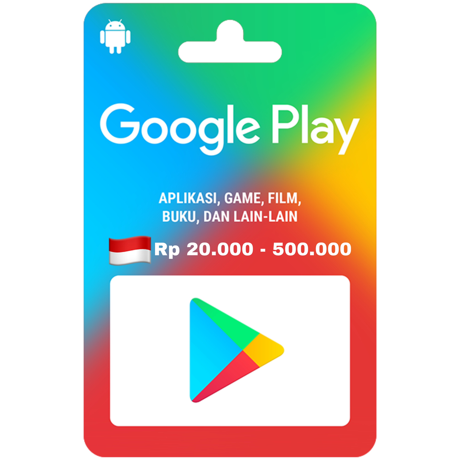 Google Play Gift Card Indonesia 20.000 - 500.000