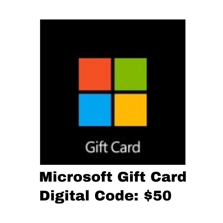 Microsoft Gift Card Digital Code: $50 - Windows / Xbox