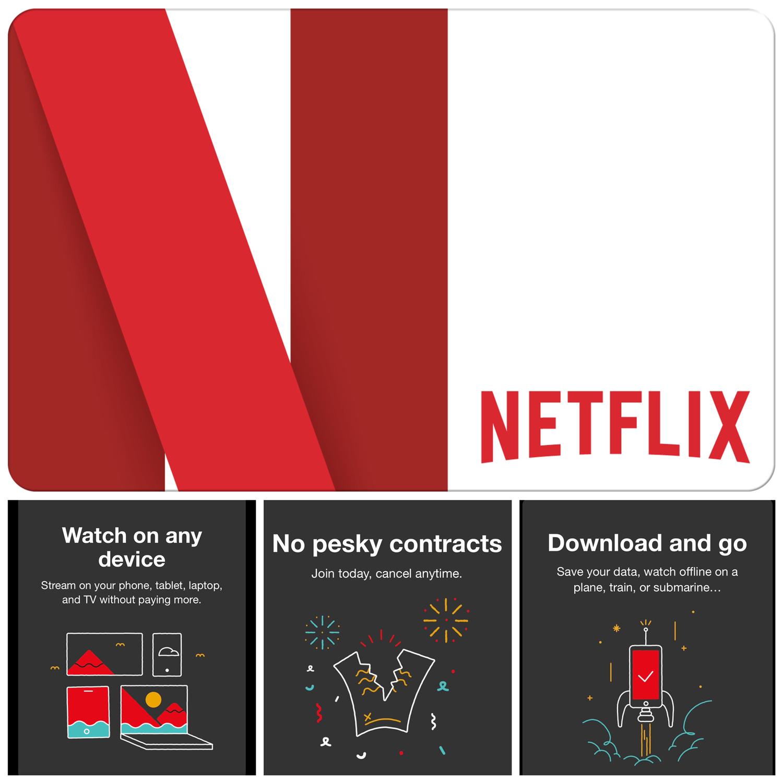 Netflix Gift Card US $15 $30 $60 $100